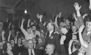 Attlee election meeting